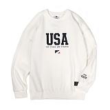 앱놀머씽 - USA Crewneck (White) 맨투맨