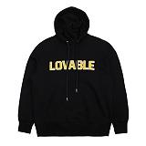 [아이넨]EINEN-Lovable Dropshoulder Hoodie Sweatshirts Black 후드티 후디