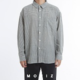 [모니즈] 브릭 오버 체크 셔츠 (4color) SHT671 긴팔남방