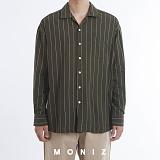 [모니즈] 파자마 스트라이프 오버 셔츠 (4color) SHT670 긴팔남방