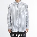 [모니즈] 노멀 스트라이프 오버 셔츠 (3color) SHT668 긴팔남방