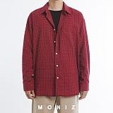 [모니즈] 모노 오버 체크 셔츠 (3color) SHT667 긴팔남방