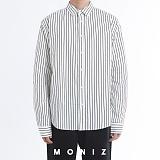[모니즈] 쿨링 스트라이프 오버 셔츠 (2color) SHT666 긴팔남방