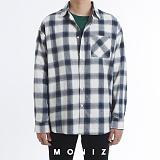 [모니즈] 버블 오버 체크 셔츠 (3color) SHT665 긴팔남방