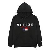 VETEZE - BIG LOGO HOOD_BK 로고 후드 후디