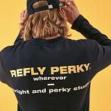 [리플라이퍼키]RE FLY PERKY [UNISEX] 퍼키 빅 로고 롱 슬리브 (SmokeNavy) 긴팔티