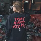 [니드네스]NEEDNESS - TRULY MTM (BLACK) 기모 맨투맨 크루넥 스웨트셔츠