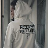 [니드네스]NEEDNESS - YOUTH RAIDERS HOOD (IVORY) 기모 후드 후드티