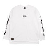 [에시드블랙] ACIDBLACK - FINAL LAP LONG SLEEVES (WHITE) 나그랑 티셔츠 긴팔티셔츠 롱슬리브