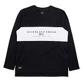 [에시드블랙] ACIDBLACK - COLOR BLOCK LONG SLEEVES (BLACK) 나그랑 티셔츠 긴팔티셔츠 롱슬리브