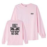 [오베이]OBEY - NO ONE L/S T-SHIRT 164901559 (PINK) 등판로고 긴팔티 롱슬리브