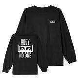 [오베이]OBEY - NO ONE L/S T-SHIRT 164901559 (BLACK) 등판로고 긴팔티 롱슬리브