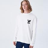 [프로젝트624]PROJECT624 [UNISEX] 로마 VI로고 오버핏 롱 슬리브 티셔츠(white) 긴팔티