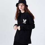 [프로젝트624]PROJECT624 [UNISEX] 로마 VI로고 오버핏 롱 슬리브 티셔츠(black) 긴팔티