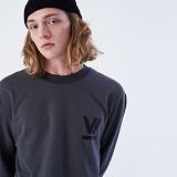 [프로젝트624]PROJECT624 [UNISEX] 로마 VI로고 오버핏 롱 슬리브 티셔츠(charcoal) 긴팔티
