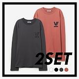 [프로젝트624]PROJECT624 [1+1] 로마 VI로고 오버핏 롱 슬리브 티셔츠 (4COLOR) 긴팔티