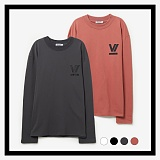 [프로젝트624]PROJECT624 [UNISEX] 로마 VI로고 오버핏 롱 슬리브 티셔츠 (4COLOR) 긴팔티