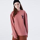 [프로젝트624]PROJECT624 [UNISEX] 로마 VI로고 오버핏 롱 슬리브 티셔츠(indie coral) 긴팔티