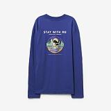 [프로젝트624]PROJECT624 [UNISEX] 위드미 오버핏 롱 슬리브 티셔츠 (blue) 긴팔티
