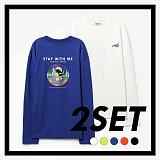 [프로젝트624]PROJECT624 [1+1] 위드미 오버핏 롱 슬리브 티셔츠 (5COLOR) 긴팔티
