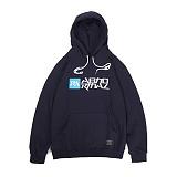 앱놀머씽 - Symbolic Hood (Navy) 후드티셔츠