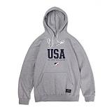 앱놀머씽 - USA Hood (Gray) 후드티셔츠