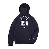 앱놀머씽 - USA Hood (Navy) 후드티셔츠