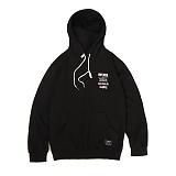 앱놀머씽 - Vinylrock Hood (Black) 후드티셔츠