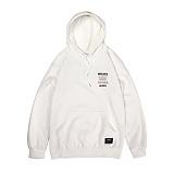 앱놀머씽 - Vinylrock Hood (White) 후드티셔츠