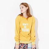 [핍스] PEEPS dont be rude crewneck(mustard)_핍스 맨투맨