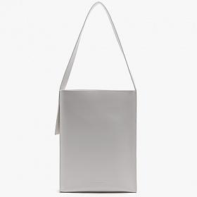 [피스메이커]PIECE MAKER - LEATHER FLAT SHOULDER BAG (WHITE) 레더 숄더백 가죽 가방