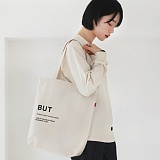 LOGO ECO BAG-IVORY