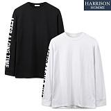 [해리슨] 오프 트립 티셔츠 NTC1266 레터링 롱슬리브