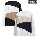 [해리슨] 피치 3배색 티셔츠 NTC1259