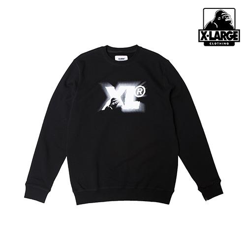 ※[엑스라지]XLARGE - CAMEO THING CREWNECK FLC (BLACK) 로고 크루넥 맨투맨 스��셔츠
