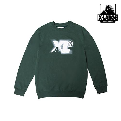 ※[엑스라지]XLARGE - CAMEO THING CREWNECK FLC (FOREST GREEN) 로고 크루넥 맨투맨 스��셔츠