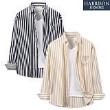 [해리슨] DS 큐브라 10MM 스트라이프 긴팔 셔츠 MET1567 남방