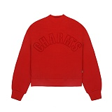 [참스]CHARMS HALF HIGH NECK SWEATSHIRT RED 맨투맨 크루넥 스��셔츠