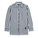 [새븐틴스] PASTEL STRIPE SHIRTS NAVY 스트라이프 셔츠 네이비