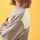 [리플라이퍼키]RE FLY PERKY [UNISEX] 퍼키 오버핏 배색 스웨트셔츠 (Grey) 맨투맨 크루넥