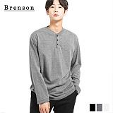브렌슨 - 루즈핏 헨리넥 더블코튼 티셔츠 3컬러
