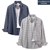[해리슨] 플랜 체크 셔츠 MET1577 남방