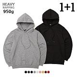 [로로팝] [950g] 헤비 기모 오버핏 후드 [1+1]