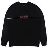 [디플로우]PIPING LINE SWEAT SHIRTS(BLACK) 맨투맨 티셔츠