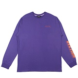[디플로우]SECTION OF FACE LONGSLEEVES(PURPLE) 긴팔티 쭉티