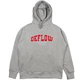 [디플로우]DEFLOW LOGO APPLIQUE HOODIE(GRAY) 후드 티셔츠 후드티
