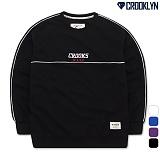 [크루클린] MRL-476 웨이브라인 맨투맨 티셔츠