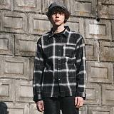 [FROMATOB]프롬에이투비 세이프티 핀 체크 셔츠 - TOB17ZLS505BK 남방
