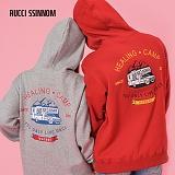 [루찌씬놈]Rucci Ssinnom - 후드티 SHP107 (2color)(기모) 등판 캠핑 자수 풀오버 후드티 후드 스��셔츠
