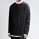 [쟈니웨스트] JHONNYWEST - Light Cable Knit (Black) 니트